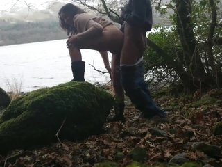 Shameless indian hottie has risky sex in public by the lake while strangers watch desi chudai POV Indian