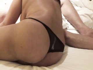 Wife blowjobsand fucked in doggy style