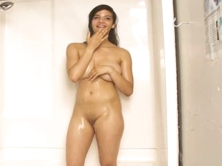 Indian Beauty Shanaya In Shower With Juicy Boobs