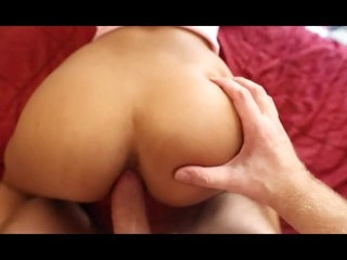 Asian babe sucks a big cock and gets fucked in the ass