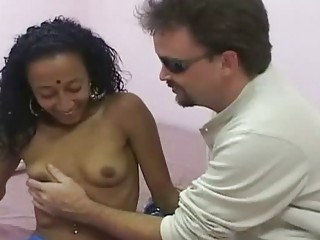 Pretty bollywood slut sucking one strong cock