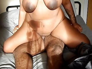 Hannah Ryan - Indian BBW Rides Chubby Indian Man