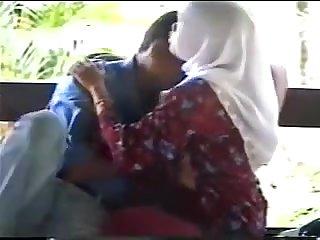 Muslim Couple In Park