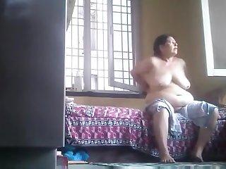 Desi Granny Naked In Room