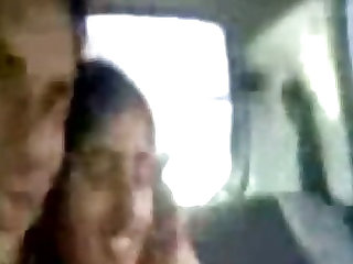 Young Punjabi lovers kissing & enjoying naked in car