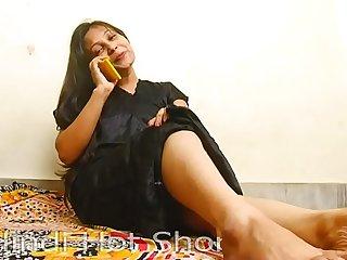 Indian Hot Girl Masturbates on Phone