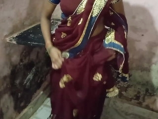 Indian girl in a saree has quick sex with devar