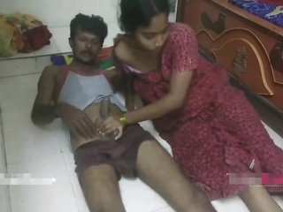 Famous telugu Couple Bhabhi Fucking With Servant when alone.