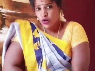 Sexy Tamil whore housewife dances