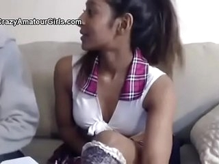 MINDBLOWING DESI INDIAN TEEN SUCKS HER WHITE BOYFRIEND'S