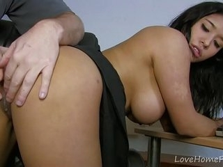 Exotic Amateur Babe Working Hard In The Office
