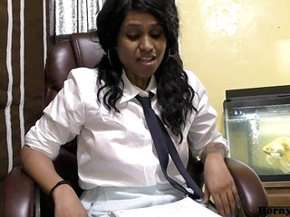 Randi Virgin School girl Lily talking in Hindi about wanting to fuck