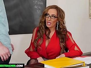 Hot teacher Richelle Ryan fucks big dick student