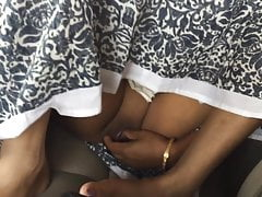 Indian tie transmitted to knot fingering her hot pussy regarding transmitted to moving motor vehicle