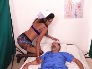 Indian lesbian nurse at home